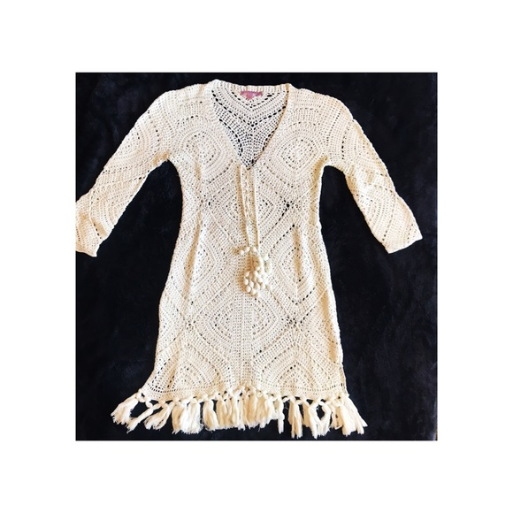 2de4fd1ef8 Calypso St. Barth Swim | Cream Calypso Cover Up Crochet Dress Boho ...